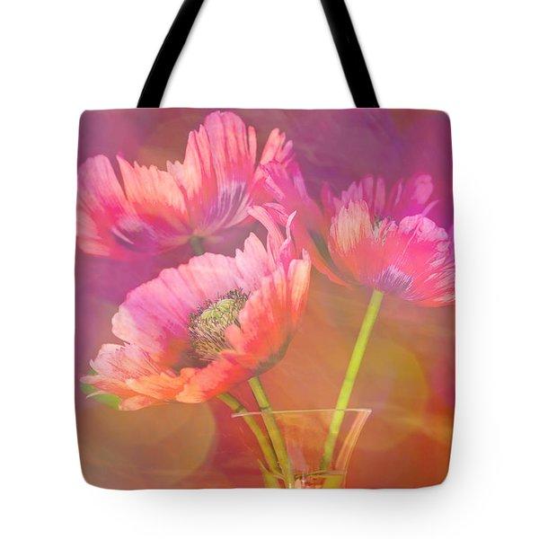 Poppy Passion Tote Bag by Jan Bickerton