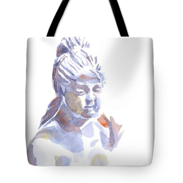 Porcelain Maiden In Watercolor Tote Bag by Kip DeVore