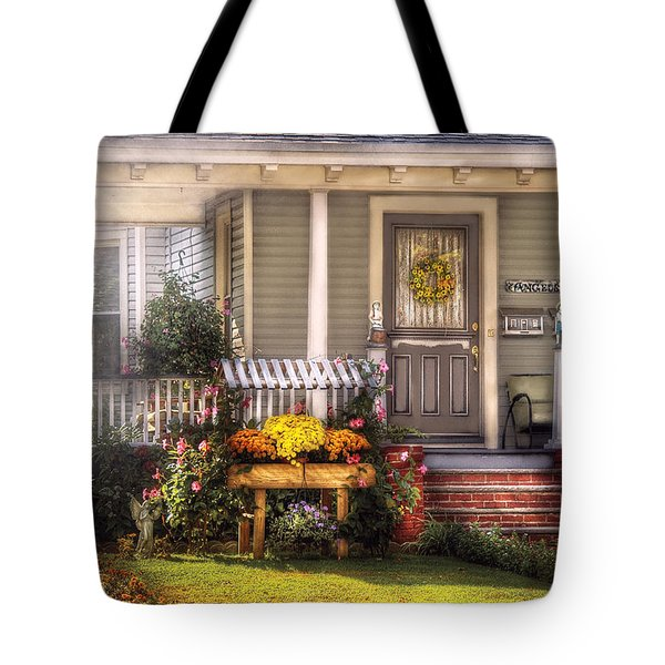 Porch - Westfield Nj - The House Of An Angel Tote Bag by Mike Savad