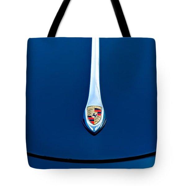 Porsche 1600 Super Hood Emblem Tote Bag by Jill Reger
