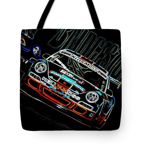 Porsche 911 Racing Tote Bag by Sebastian Musial