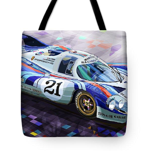 Porsche 917 LH Larrousse Elford 24 Le Mans 1971 Tote Bag by Yuriy  Shevchuk