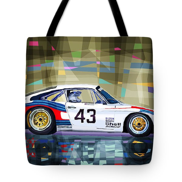 Porsche 935 Coupe Moby Dick Tote Bag by Yuriy  Shevchuk