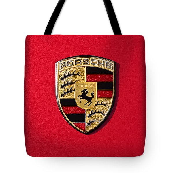 Porsche Emblem -0057cold Tote Bag by Jill Reger