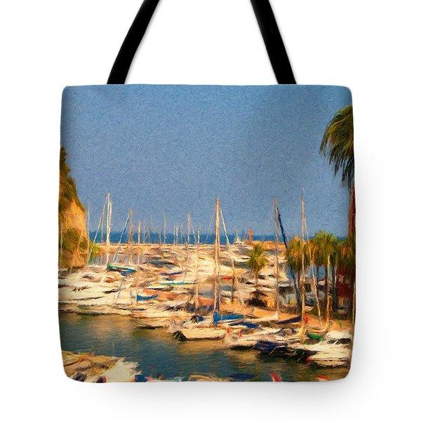 Port De Fontvieille Tote Bag by Jeff Kolker