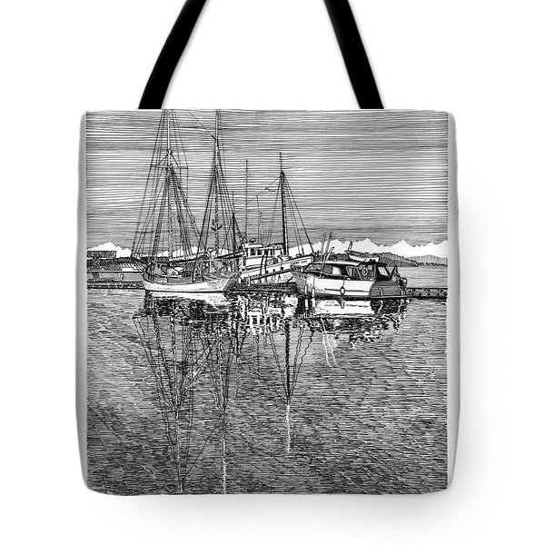 Port Orchard Reflections Tote Bag by Jack Pumphrey