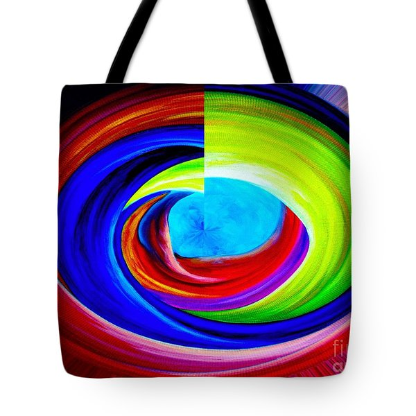 Portal In Space Abstract Art Tote Bag by Annie Zeno