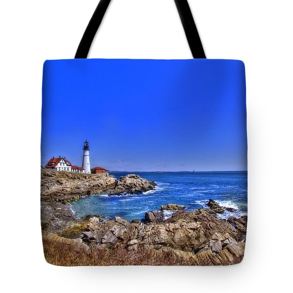 Portland Head Light 4 Tote Bag by Joann Vitali