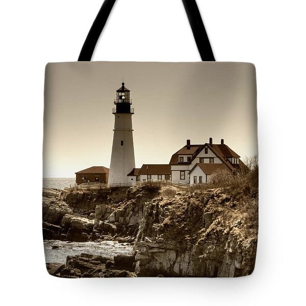 Portland Head Lighthouse Tote Bag by Joann Vitali