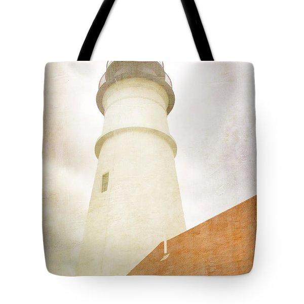 Portland Head Lighthouse Maine Tote Bag by Carol Leigh