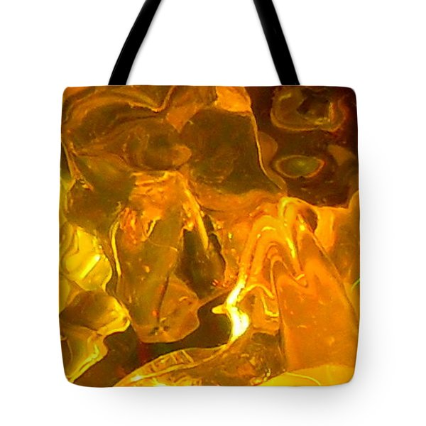 Portrait Of A Sleeping Horse In Gold Tote Bag by James Welch