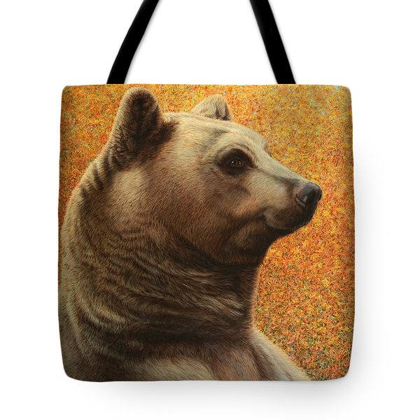 Portrait of a Bear Tote Bag by James W Johnson