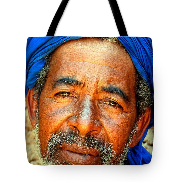 Portrait Of A Berber Man Tote Bag by Ralph A  Ledergerber-Photography