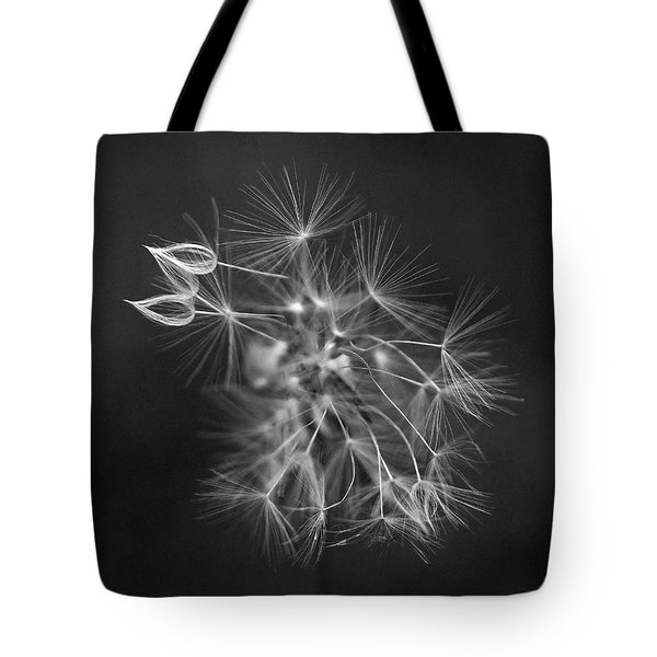 Portrait Of A Dandelion Tote Bag by Rona Black
