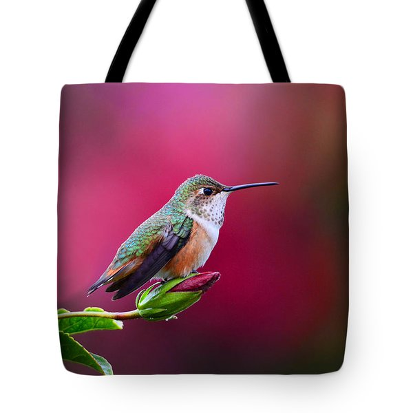 Portrait Of A Hummer Tote Bag by Lynn Bauer