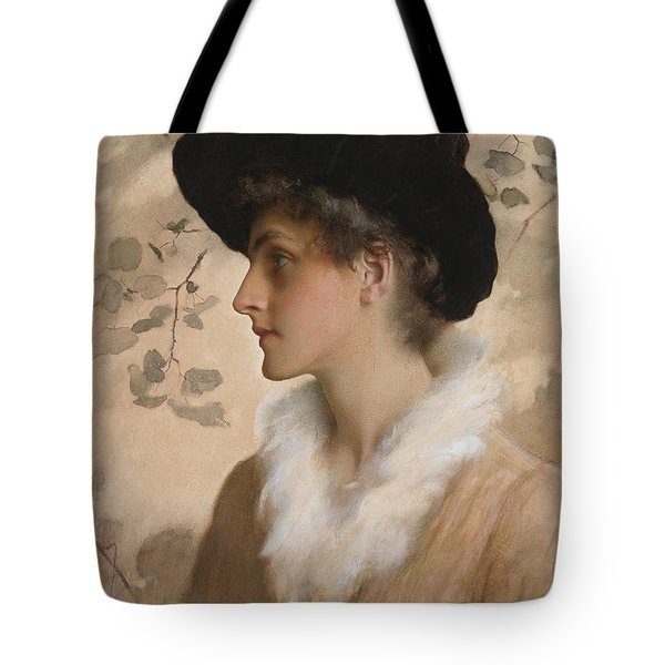 Portrait Of A Lady 1888 Tote Bag by George Henry Boughton