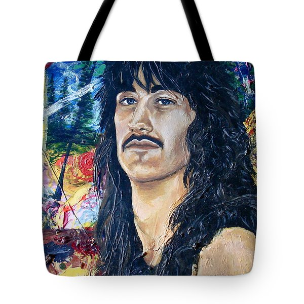 Portrait Of A Musician Tote Bag by Karon Melillo DeVega