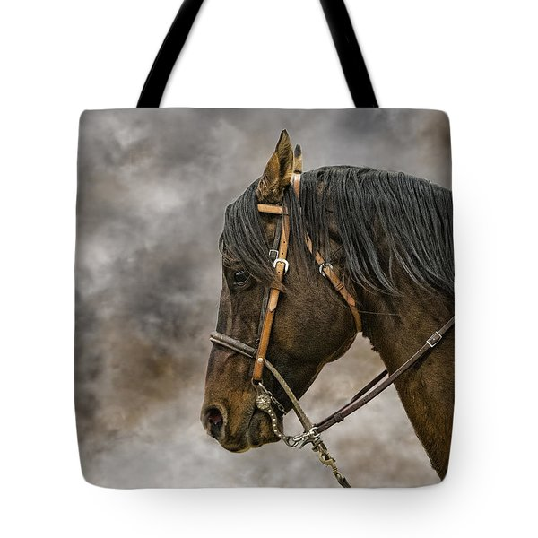 Portrait Of A Rope Horse Tote Bag by Jana Thompson