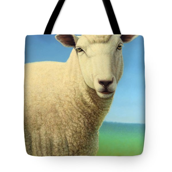 Portrait Of A Sheep Tote Bag by James W Johnson