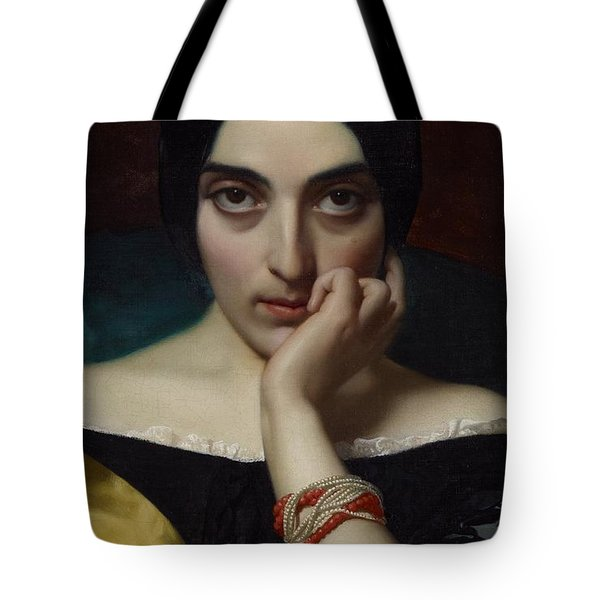 Portrait Of Clementine Tote Bag by Henri Lehmann