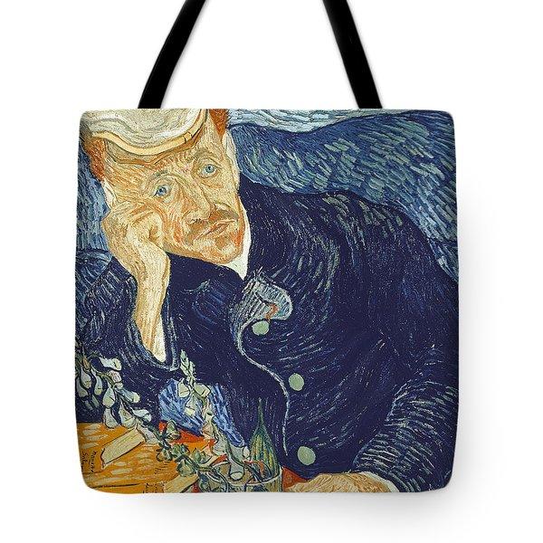 Portrait Of Dr Gachet Tote Bag by Vincent Van Gogh