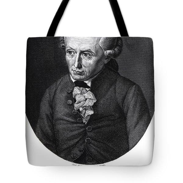 Portrait Of Emmanuel Kant  Tote Bag by German School