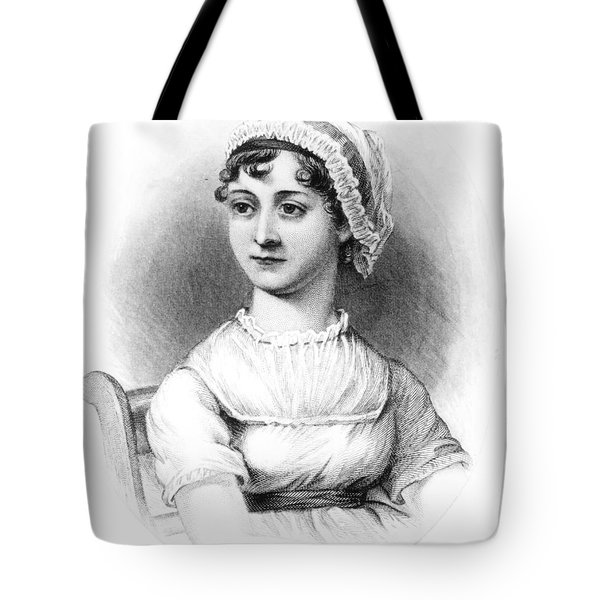 Portrait Of Jane Austen Tote Bag by English School