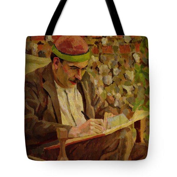 Portrait Of John Maynard Keynes Tote Bag by Roger Eliot Fry