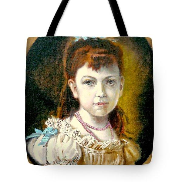 Portrait Of Little Girl Tote Bag by Henryk Gorecki