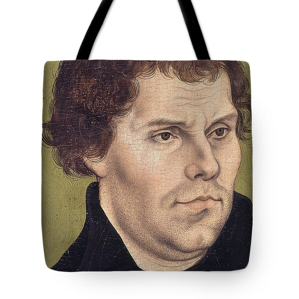 Portrait Of Martin Luther Aged 43 Tote Bag by Lucas Cranach