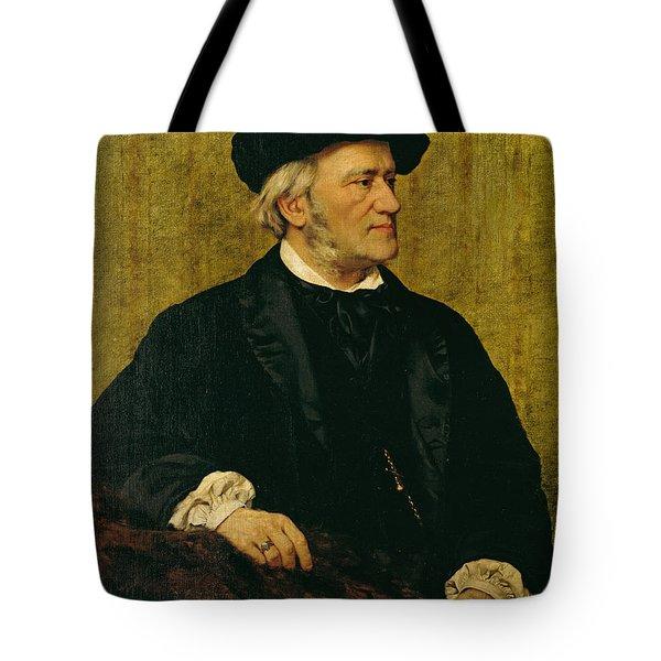 Portrait Of Richard Wagner Tote Bag by Giuseppe Tivoli