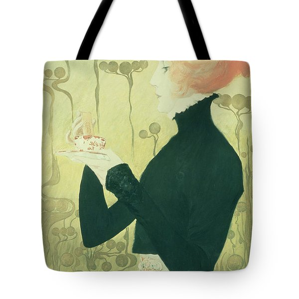 Portrait Of Sarah Bernhardt Tote Bag by Manuel Orazi