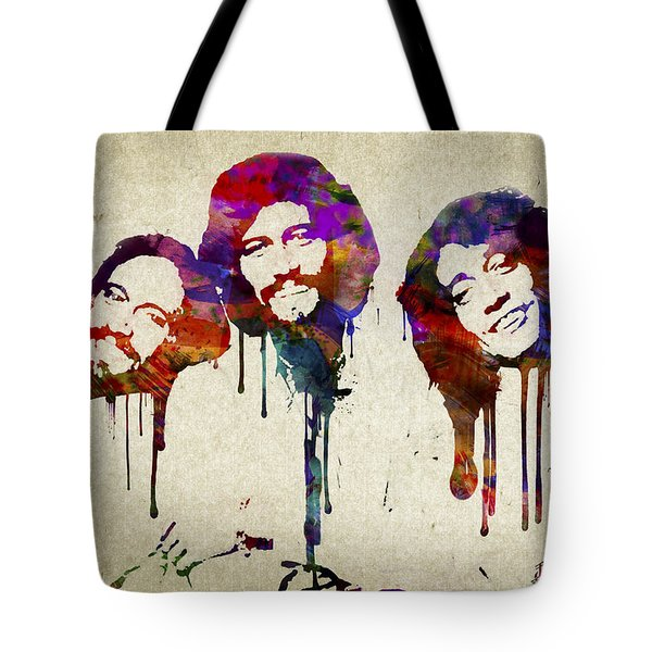Portrait Of The Bee Gees Tote Bag by Aged Pixel
