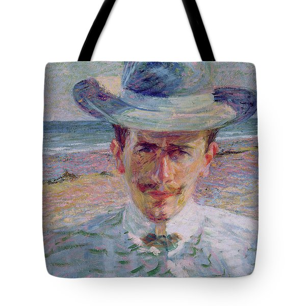 Portrait Of The Lawyer Tote Bag by Umberto Boccioni