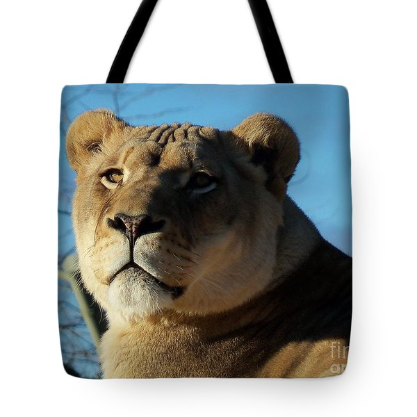 Portrait Of The Mighty Queen Tote Bag by Lingfai Leung