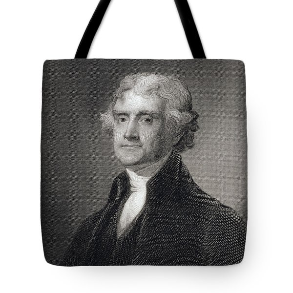Portrait Of Thomas Jefferson Tote Bag by Henry Bryan Hall