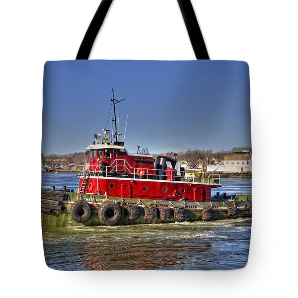 Portsmouth Tug Tote Bag by Joann Vitali