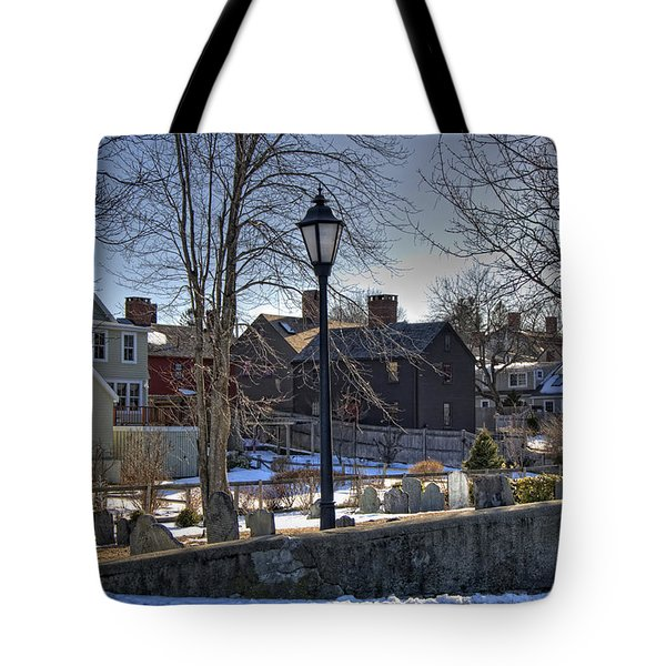 Portsmouth Winter Tote Bag by Joann Vitali