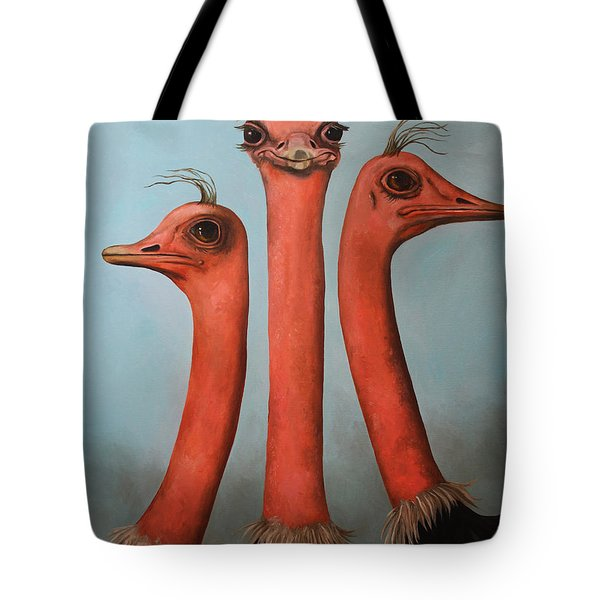 Posers 2 Tote Bag by Leah Saulnier The Painting Maniac