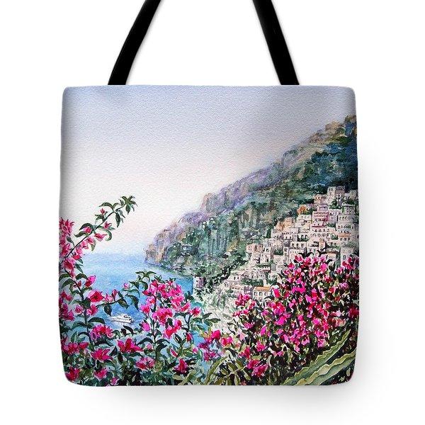 Positano Italy Tote Bag by Irina Sztukowski