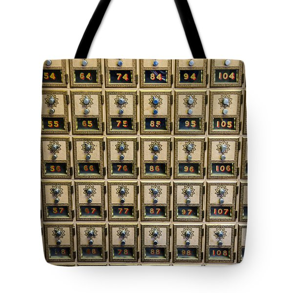 Post Office Combination Lock Boxes Tote Bag by Sue Smith