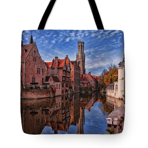 Postcard Canal Tote Bag by Joan Carroll