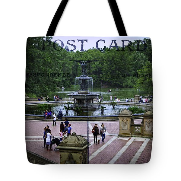 Postcard From Central Park Tote Bag by Madeline Ellis