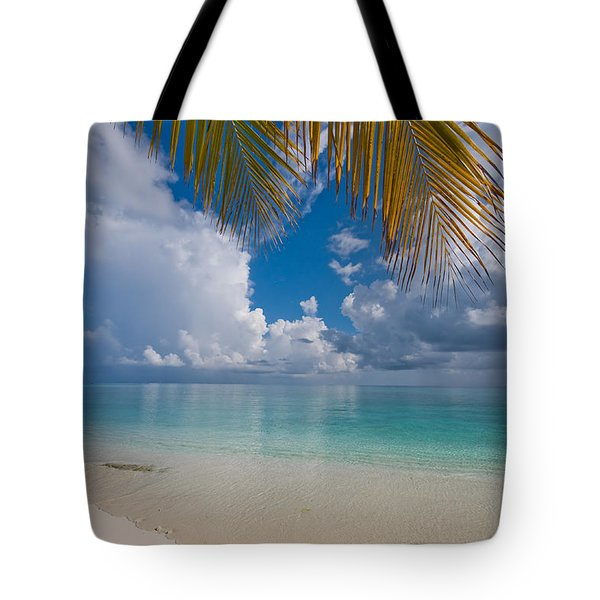 Postcard Perfection. Maldives Tote Bag by Jenny Rainbow