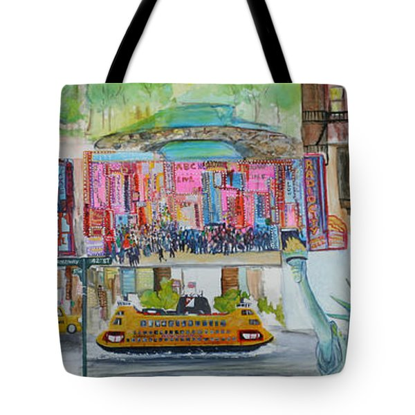 Postcards From New York City Tote Bag by Jack Diamond