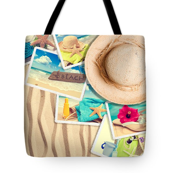 Postcards In The Sand Tote Bag by Amanda And Christopher Elwell