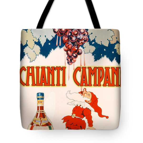 Poster Advertising Chianti Campani Tote Bag by Necchi