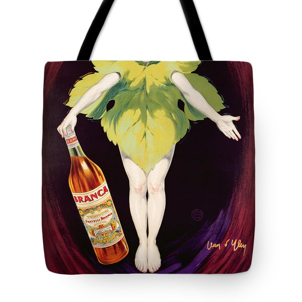 Poster Advertising Fratelli Branca Vermouth Tote Bag by Jean DYlen
