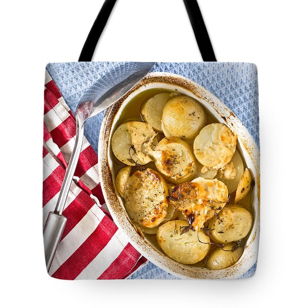 Potato Dish Tote Bag by Tom Gowanlock