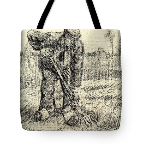 Potato Gatherer Tote Bag by Vincent Van Gogh